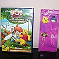 Lot de 4 pagemarker winnie & friends + 1 dvd les mystères de la nature.