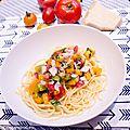 Pâtes aux tomates fraîches