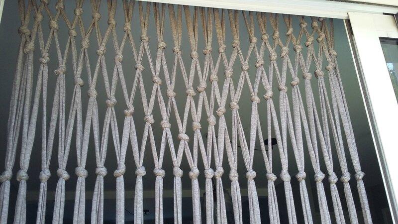 Rideau de porte en trapilho home made be l ppi - Rideau de porte d entree anti mouche ...