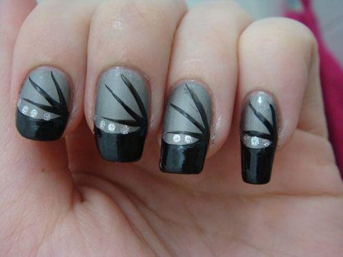 Nail art matte avec