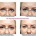 Maquillage permanent des sourcils méthode poil à poil + ombrage réalisé par vanessa