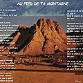 Au pied de ta <b>montagne</b> (Photopoème Chrétien, Patsy)