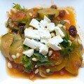 Salade de courgettes à la grecque, revue et corrigée
