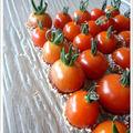 Tomates cerise au graines de sésame...façon pomme d'amour !