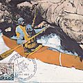 Carte postale timbre premier jour bourg st maurice
