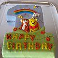 Gâteau 1 an winnie et tigrou