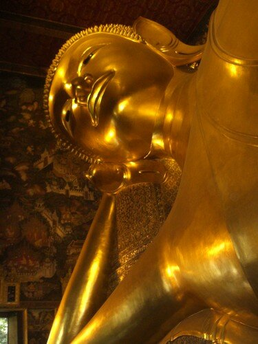 Bangkok, Wat Pho, bouddha couche