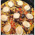 Omelette aux légumes et chèvre façon tarte