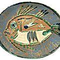 Pablo picasso (malaga, 1881 - mougins, 1973), poisson chine, 1952.
