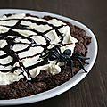 Cookies tout chocolat en forme de toile d'araignée, recette pour halloween