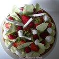 Gâteau aux fraises, framboises et pistaches façon fantastik