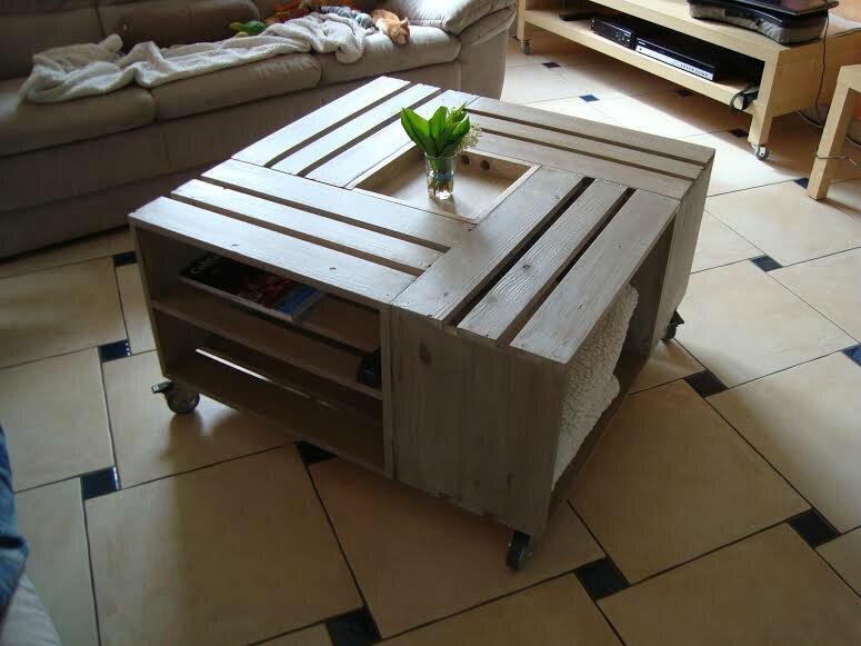 table basse bar fabriquée par Carine