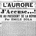 1898 : emile zola, j'accuse