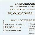Razorlight - Lundi 6 Octobre 2008 - La <b>Maroquinerie</b> (Paris)