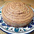 Gâteau rayé chocolat et vanille