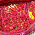 intérieur de la boiteà couture