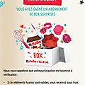 🍫 un abonnement « box surprises « nutella + tefal .. gagné !