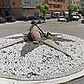 Rond-point à Cambados (Espagne)