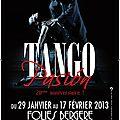 Evénement : <b>Tango</b> Pasion, brûlant spectacle de danse aux Folies Bergères