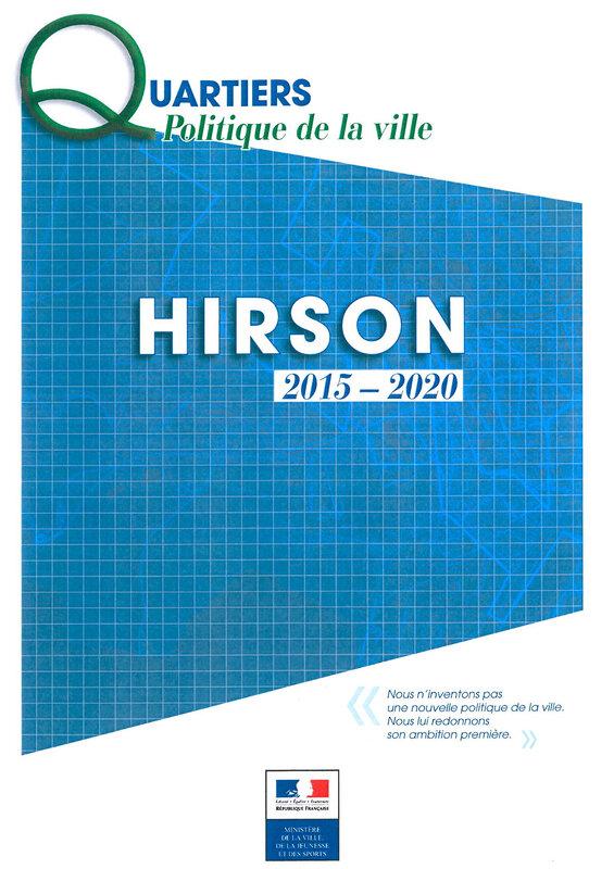CONTRAT DE VILLE HIRSON 2015 couverture