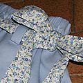 Jupe maison piqué + fleurs bleues 004