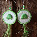 Boucles d'oreilles 'tortue'