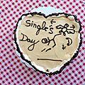 Single's day Gâteau <b>confiture</b> de lait
