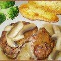 Boulettes de boeuf haché, sauce aux champignons