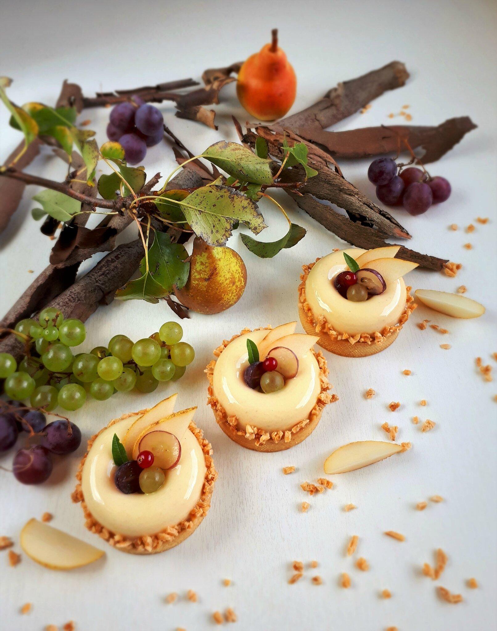 Tartelettes poire raisin