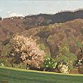 André charigny - les monts au printemps à fourbanne près de baume les dames