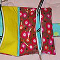 2 trousses en 1 foldingo coton enduit petit pan coquelicots rouges, fold and go double pouch petit pan fabric (4)