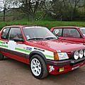 Peugeot 205 gti 1900 préparation groupe n 1987