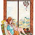 °oo reading at the window oo°