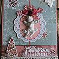 Noël en rose et gris