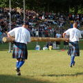 7 pm: All eyes riveted on the caber