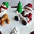 Gâteau de Noël décors päte à sucre