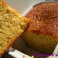Cake orange, pavot, sans gluten.....