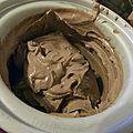 Creme glacee chocolat amandes