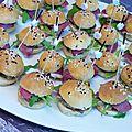Minis burgers de foie gras et magret séché