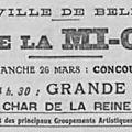 Sommaire des Fêtes de la Mi-carême 1922 à Belfort