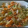 Couscous aux petits pois-carotte et surimi