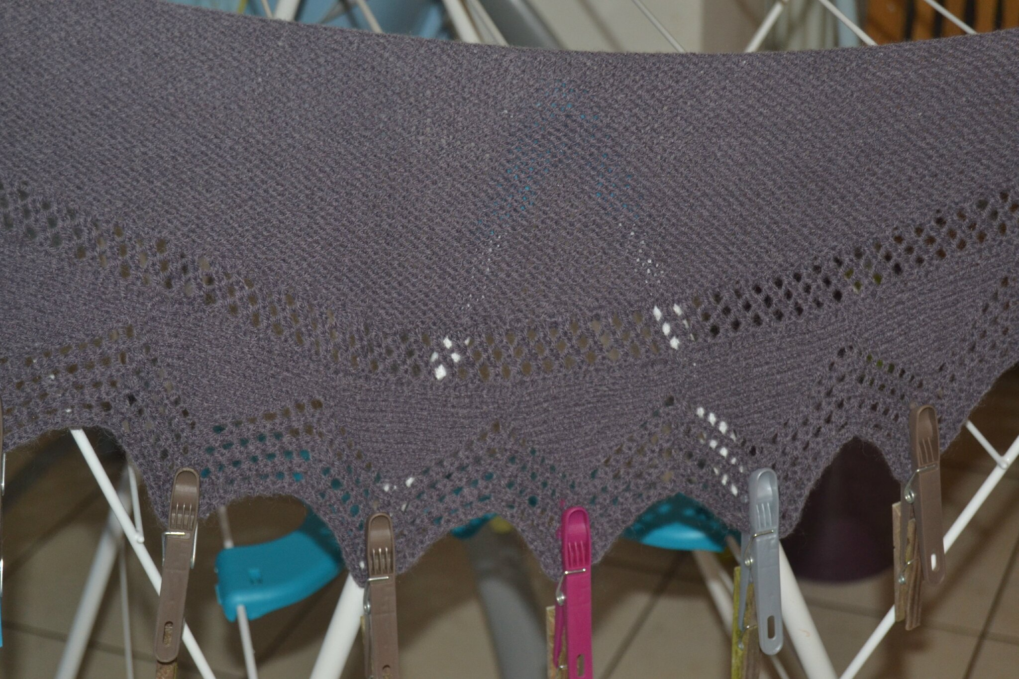 Cassis Shawlette (blocage)
