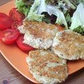 Semaine « comfort food » : galettes quinoa-tofu
