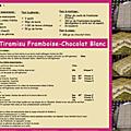 Tiramisu framboise — chocolat blanc