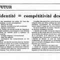 Qualité x <b>identité</b> = compétitivité des entreprises
