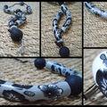 Collier Quesako noir et gris