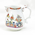 Small Jug with Table Design. Meissen. Circa <b>1735</b>.