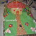 Gâteau Maison hansel Gretel toit en bonbons décor chocolat