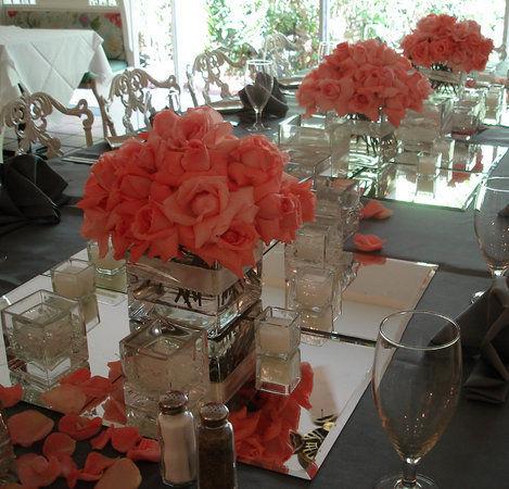 vase sur 4 miroirs