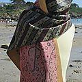 Foulard en soie indienne et tissu africain ou wax : Modèle Bengale